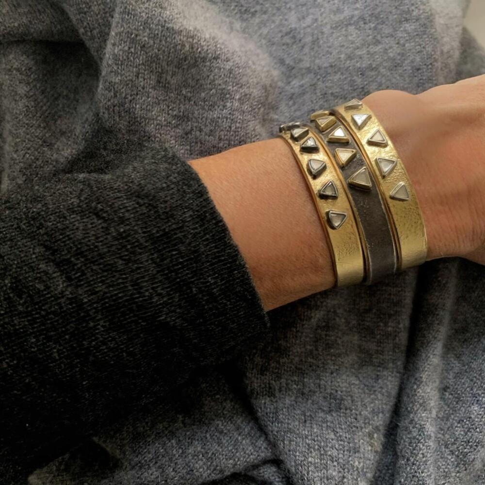 Image 2 for 5 Stone Raw Diamond Cuff Bracelet