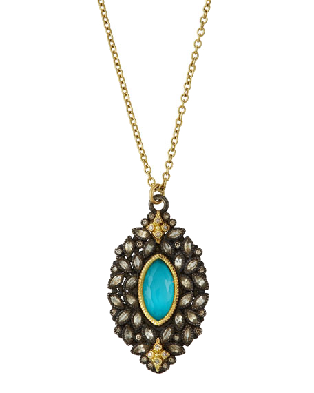 Closeup photo of Turquoise Doublet Necklace