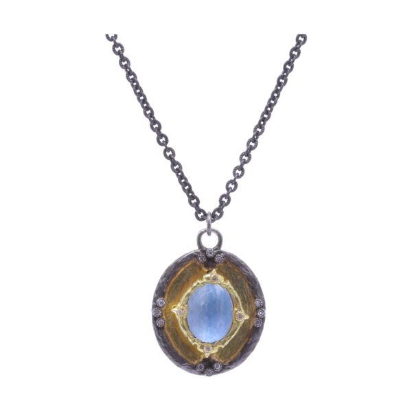 Closeup photo of Shield Necklace