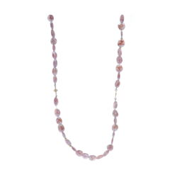 Closeup photo of Rose Silverite Beaded Necklace