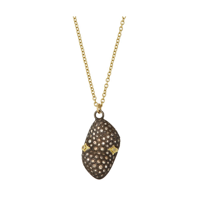 Pave Bean Necklace