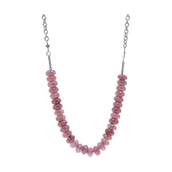 Closeup photo of Strawberry Quartz Chain Necklace