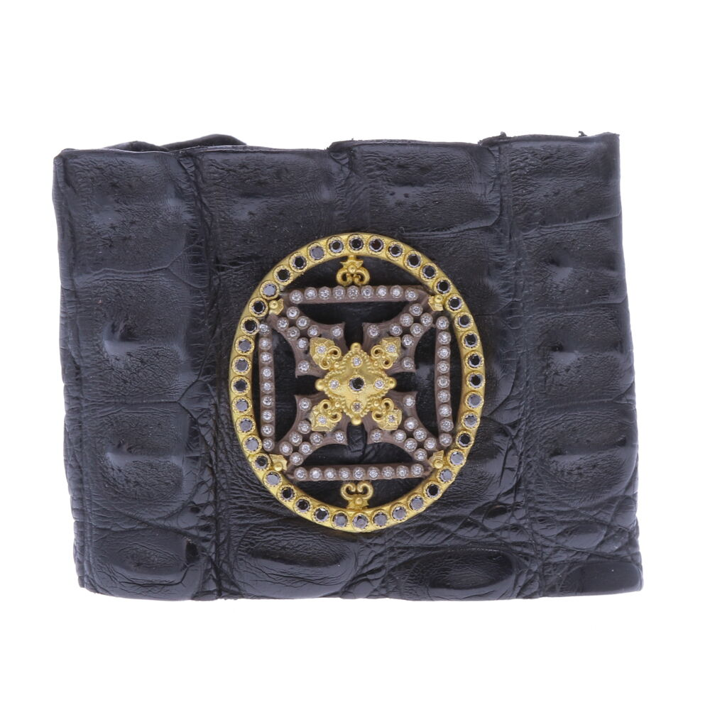 Caiman Crocodile Heraldry Cuff