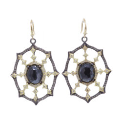Closeup photo of Sunburst Dimond Earrings