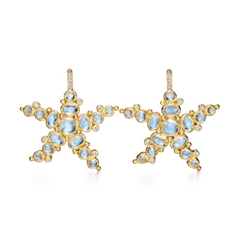 Closeup photo of 18K Sea Star Earrings