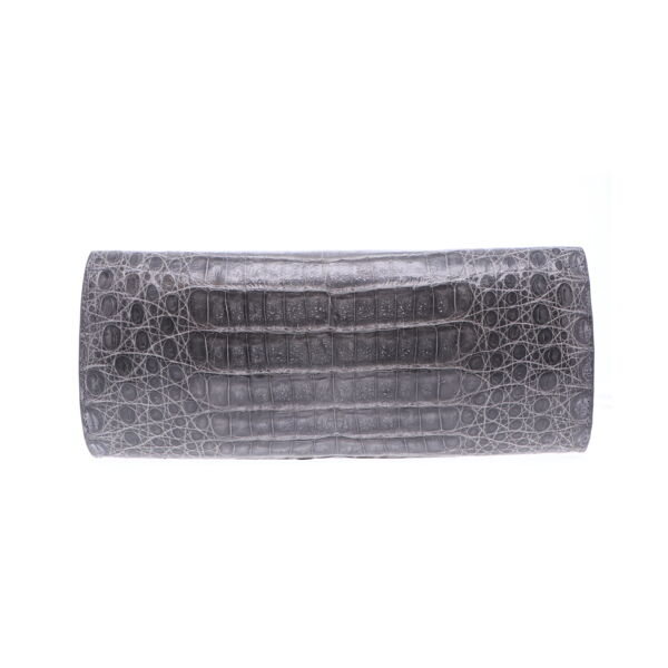 Closeup photo of Grey Cayman Crocodile Day Clutch