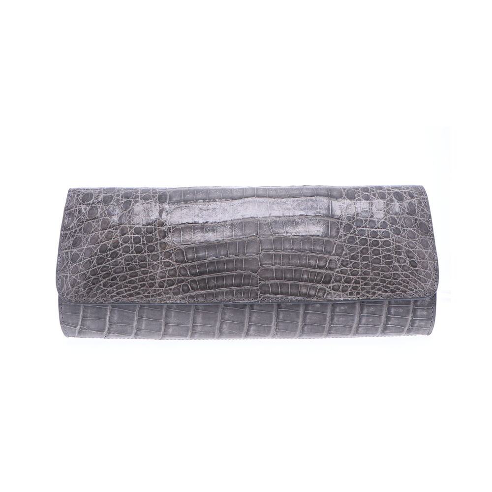 Image 2 for Grey Cayman Crocodile Day Clutch