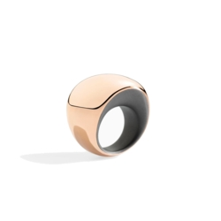 Closeup photo of 18K Rose Gold and Titanium Pirouette Ring