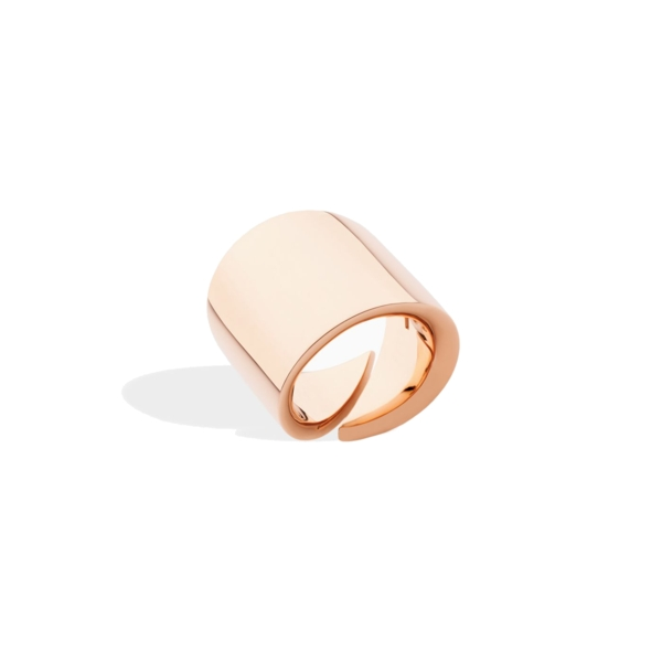 Closeup photo of 18k Rose Gold Vague Ring