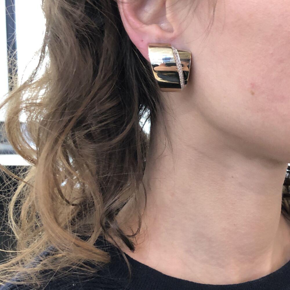 Image 2 for 18k White Gold and Diamond Tourbillon Earrings