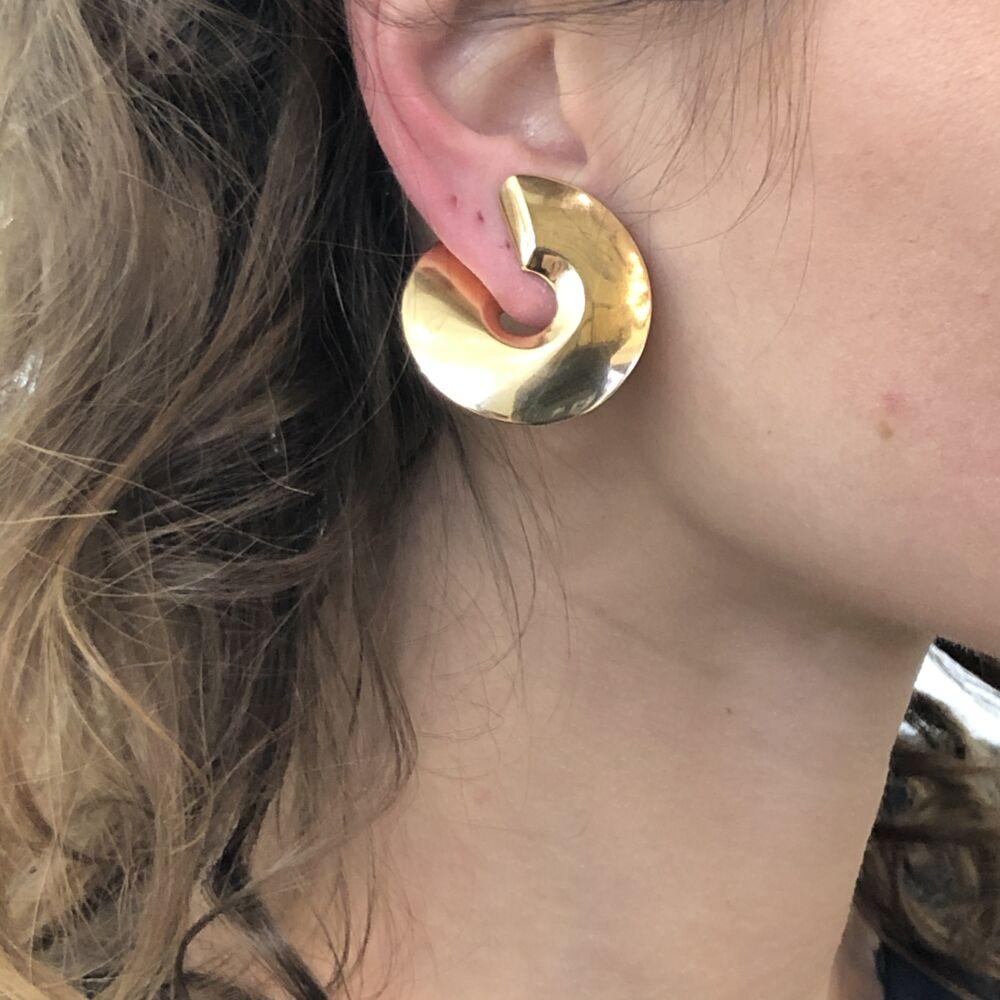 Image 2 for 18k Rose Gold Clip-On Verso Medi Earrings