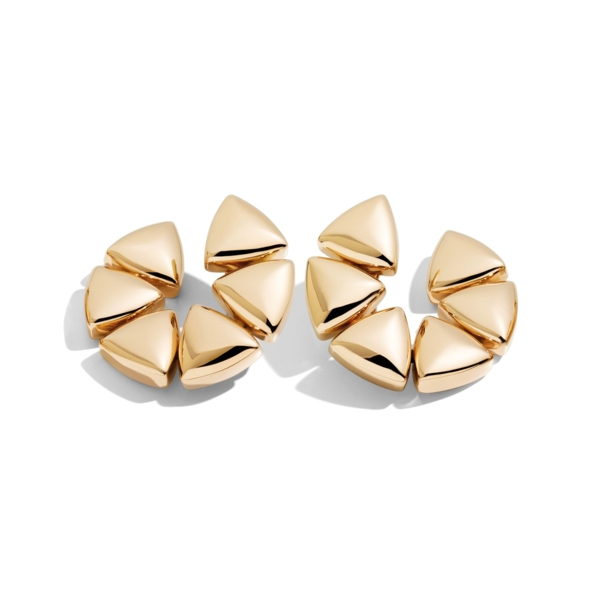 Closeup photo of 18k Rose Gold Clip-On Freccia Earrings