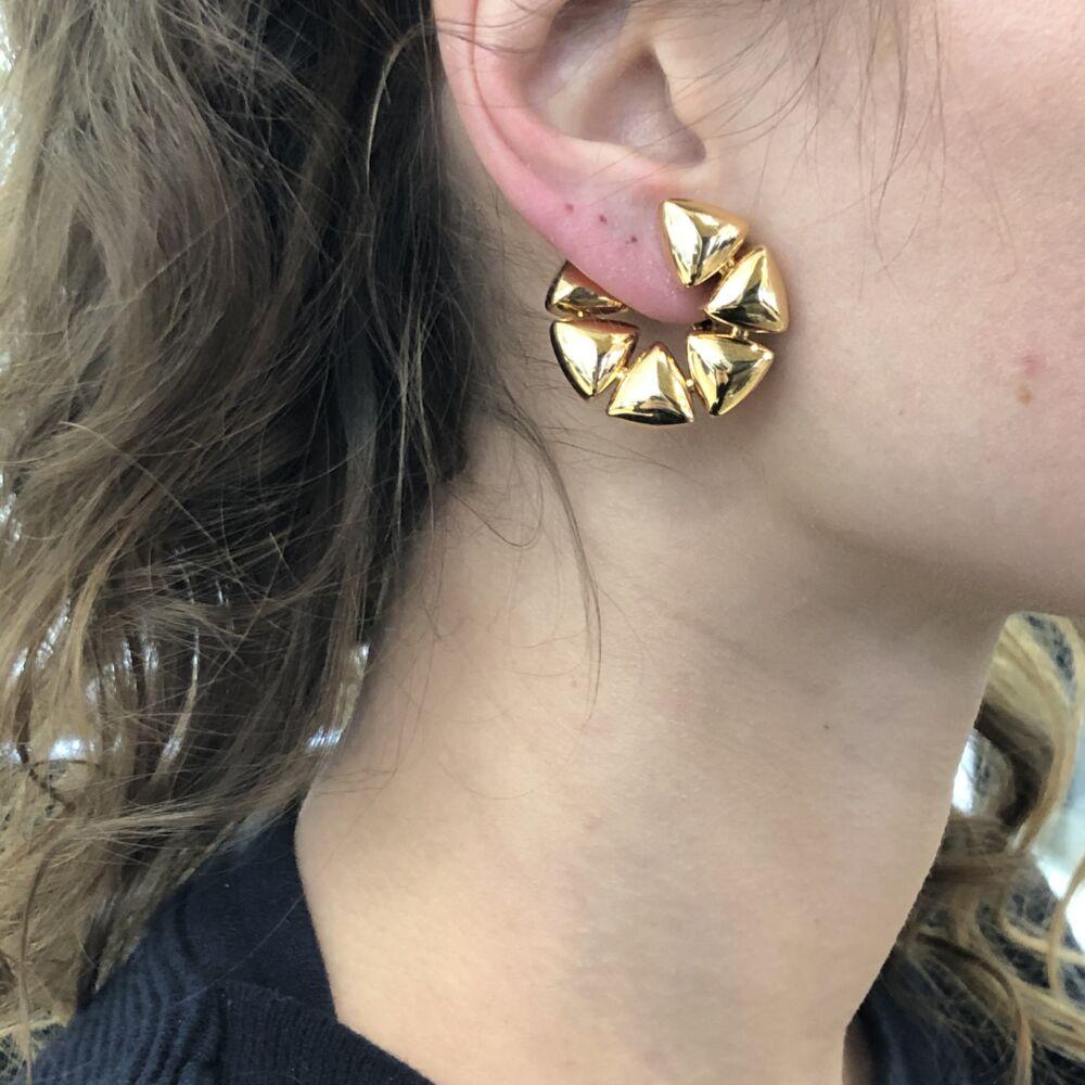 Image 2 for 18k Rose Gold Clip-On Freccia Earrings