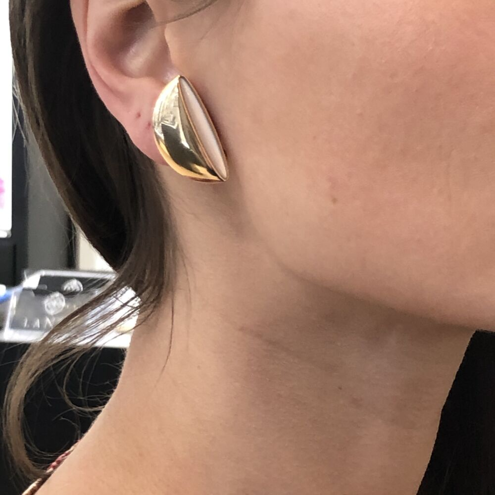 Image 2 for 18k Rose Gold Clip-On Eclisse Earrings