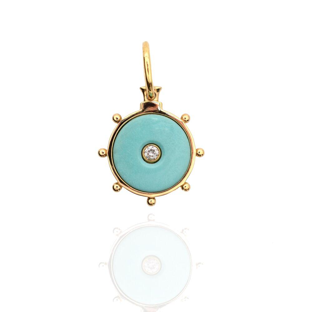 Florence Pendant Turquoise&Diamond 18k