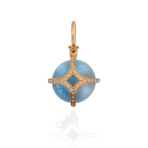 Closeup photo of Pools of Light Pendant - Aquamarine 18k