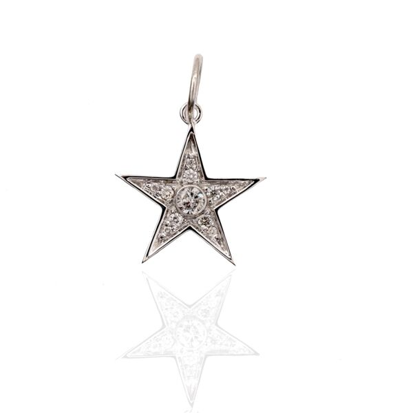 Closeup photo of Sorella Star Pendant 18kWG