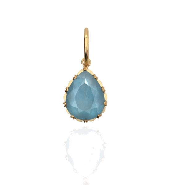 Closeup photo of Aquamarine Victorian Drop