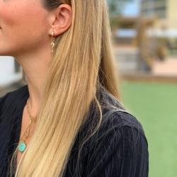 Closeup photo of Petite Question Mark Earring