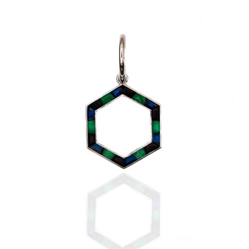 Deco Hexa in Emerald, Onyx, and Sapphire
