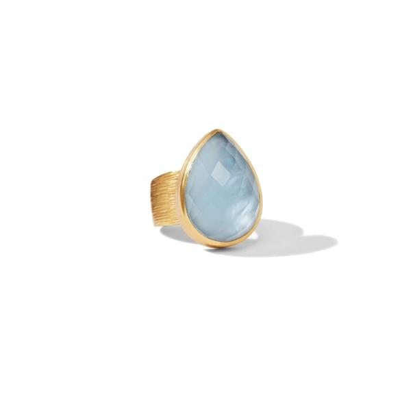 Closeup photo of Aspen Statement Ring Gold Iridescent