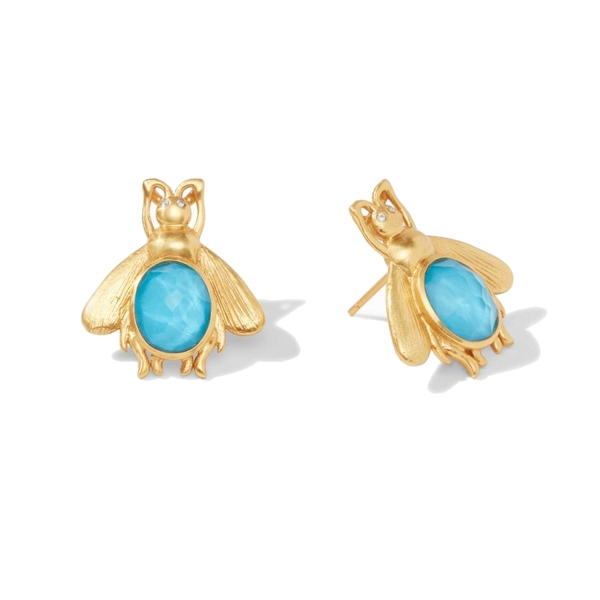 Closeup photo of Bee Stone Earring