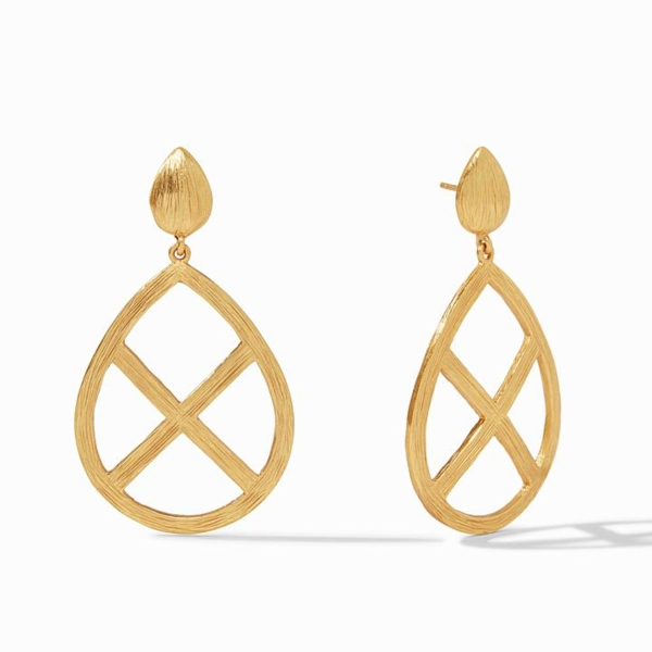 Closeup photo of Aspen Statement Gold Earring