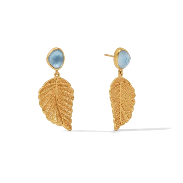 Closeup photo of Aspen Leaf Earring Gold Iridescent