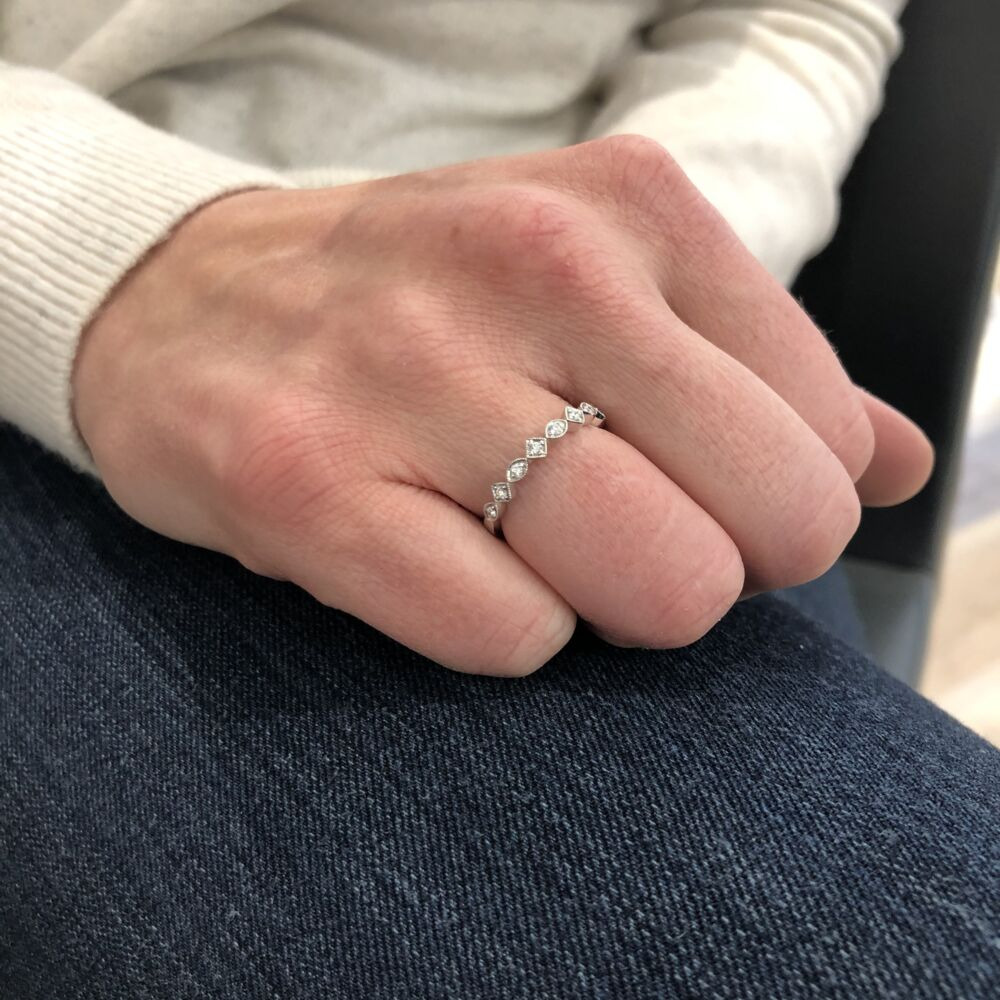 Image 2 for 14k White Gold Stack Ring