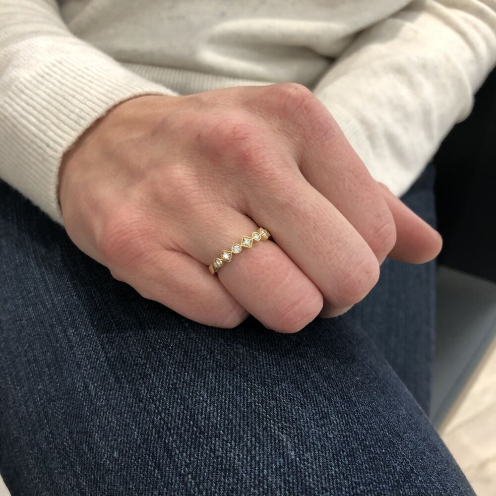 Image 2 for 14k Yellow Gold Stack Band