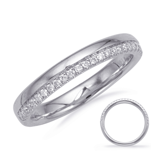 Closeup photo of 14k White Gold Stack Band
