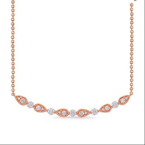 Closeup photo of 14k Rose Gold Necklace