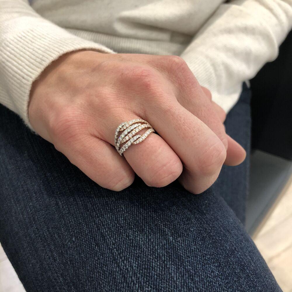 Image 2 for 14k White & Rose Gold Ring