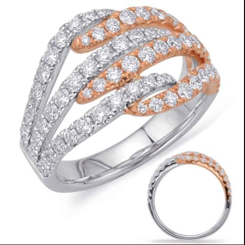 14k White & Rose Gold Ring