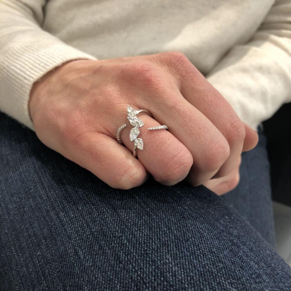 Image 2 for 14k White Gold Diamond Ring