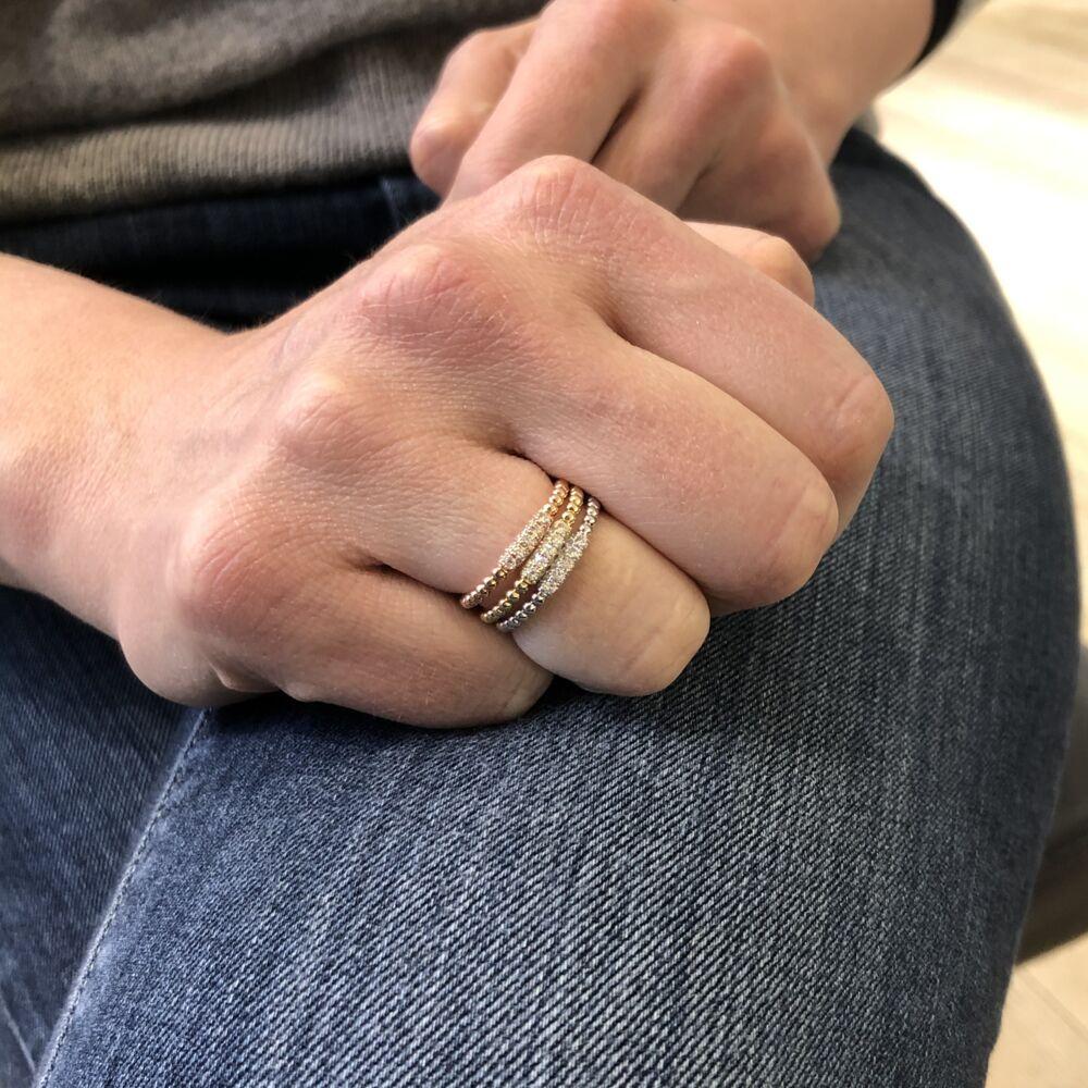 Image 2 for 14k Rose Gold Ball Diamond Ring