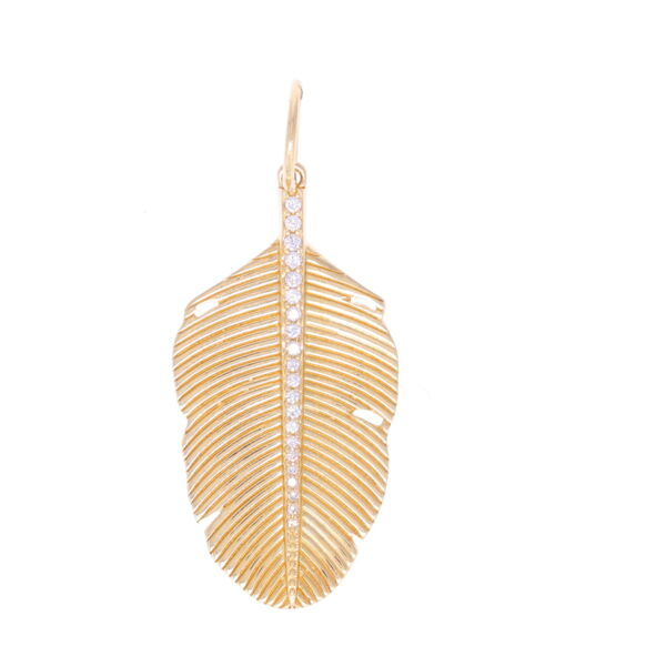 Closeup photo of Large Textured Palm Leaf with Diamonds