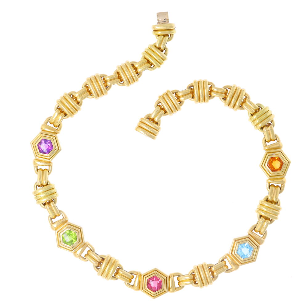 Image 2 for Multi Gemstone Collar Necklace