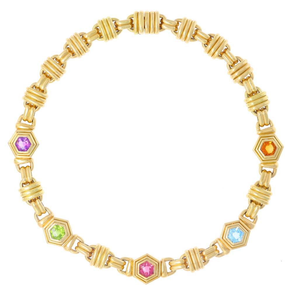 Multi Gemstone Collar Necklace