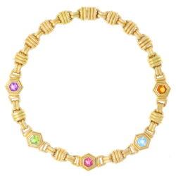 Closeup photo of Multi Gemstone Collar Necklace