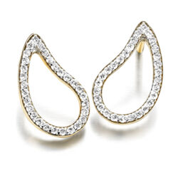 Closeup photo of Cachemire Open Paisley Diamond Studs