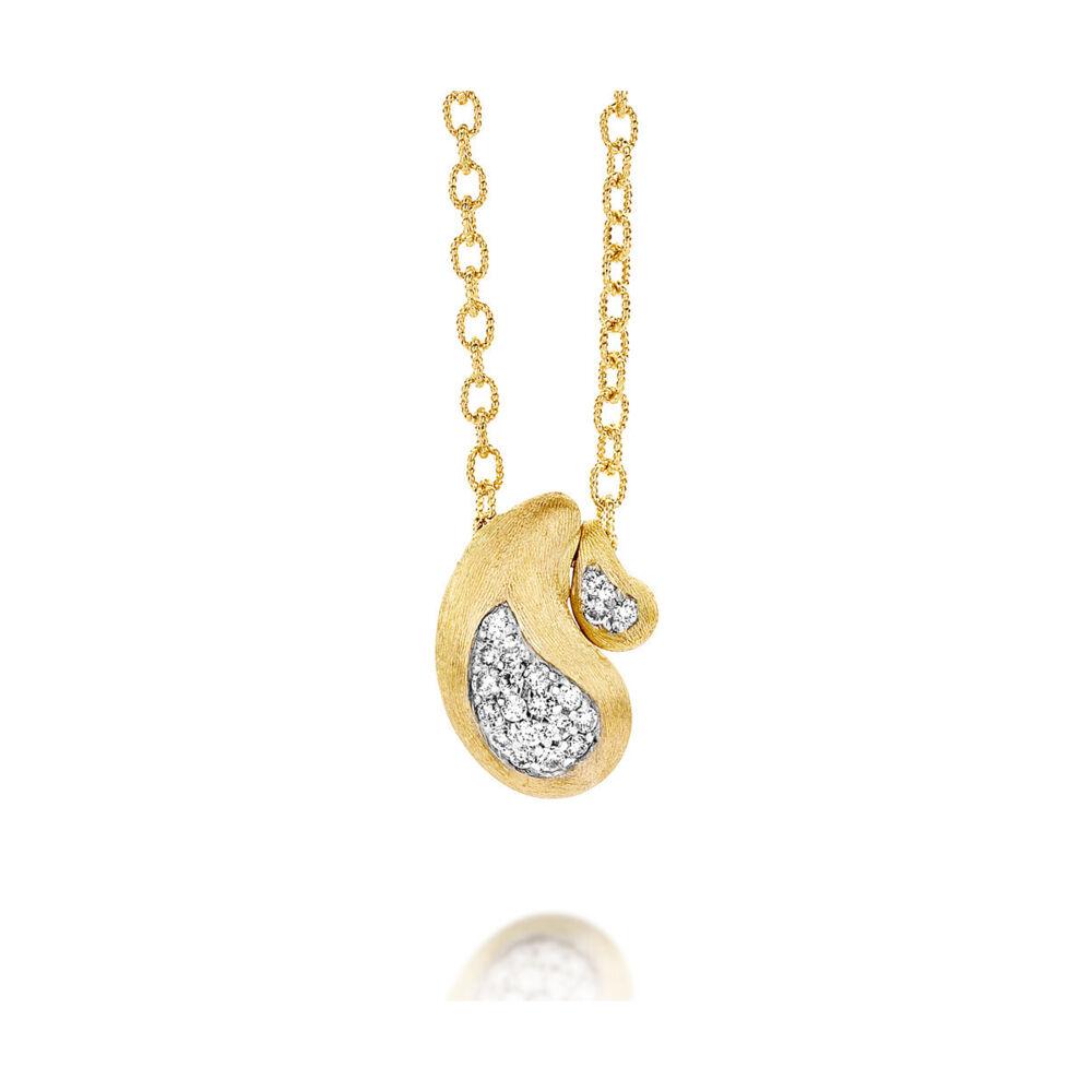 Cachemire Paisley Diamond Inset Pendant