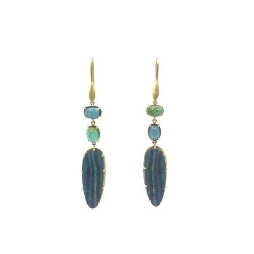 Closeup photo of Jungle Opal Earrings