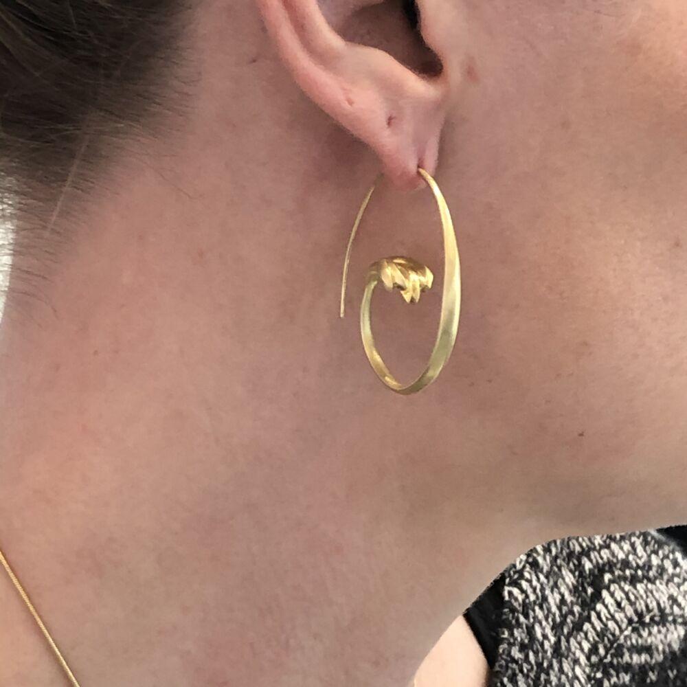 Image 2 for Terrace Open Hoop Earrings