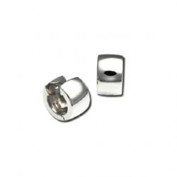 Closeup photo of Small Snap Hoop Earrings