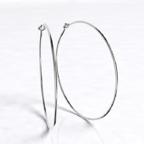 Closeup photo of Large Thin Hoops Earrings