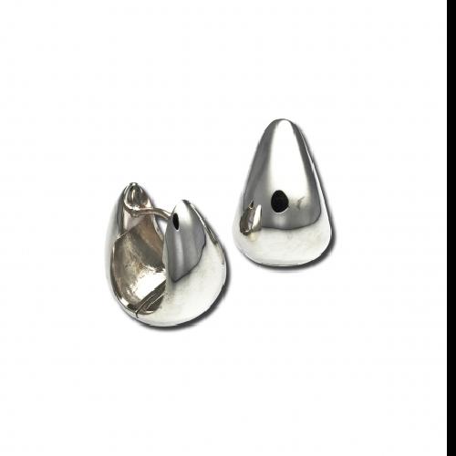 Closeup photo of Teardrop Snap Hoop Earrings