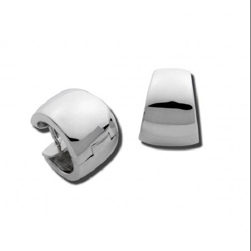 Closeup photo of Wide Taper Snap Hoop Earrings