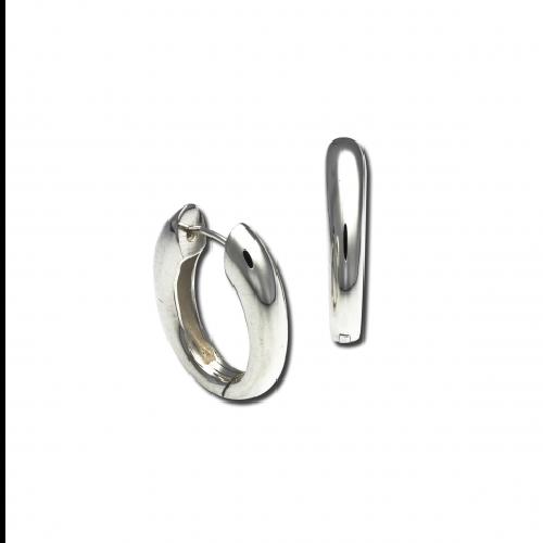 Closeup photo of Snap Hoop Earrings