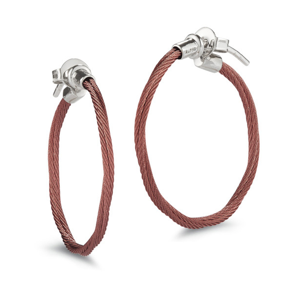 Small Twisted Cable Hoop Earrings